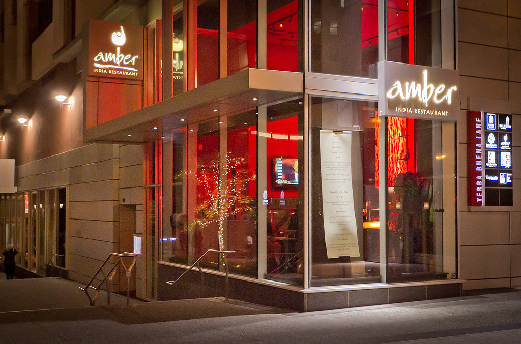 The exterior of Amber India in San Francisco, Calif.,  is seen on Saturday, December 17th,  2011.
