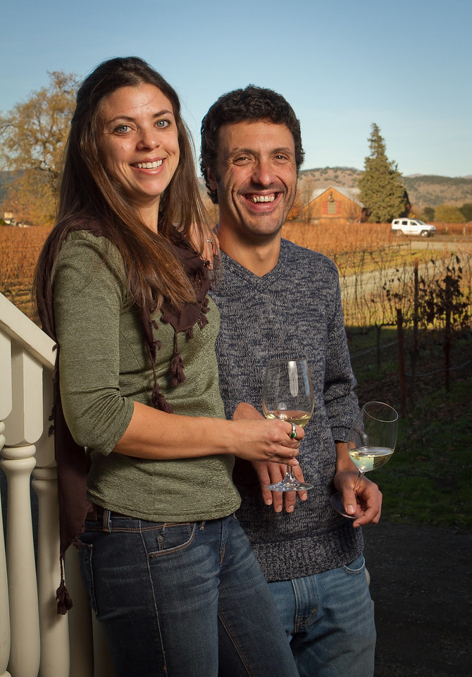 Letizia Pauletto and Enrico Bertoz of Arbe Garbe Winery at their home in Rutherford, Calif., on Friday, December 16th,  2011.