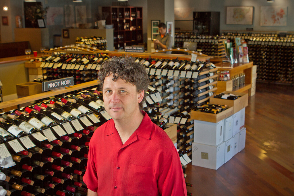 Owner of Back Room Wines, Dan Dawson, at his store in Napa, Calif., is seen on Wednesday, August 8th, 2012.