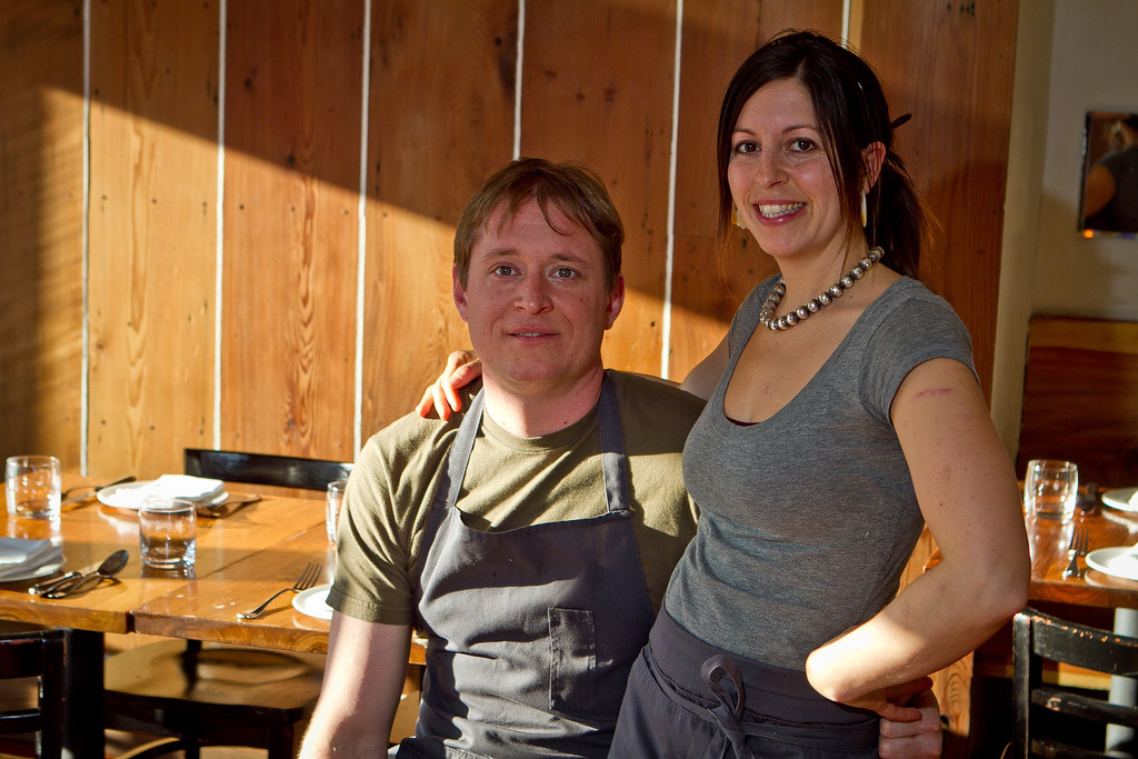 Chef Nick Balla with his girlfriend Cortney Burns at Bar Tartine in San Francisco, Calif., is seen on Thursday, March 8th, 2012.