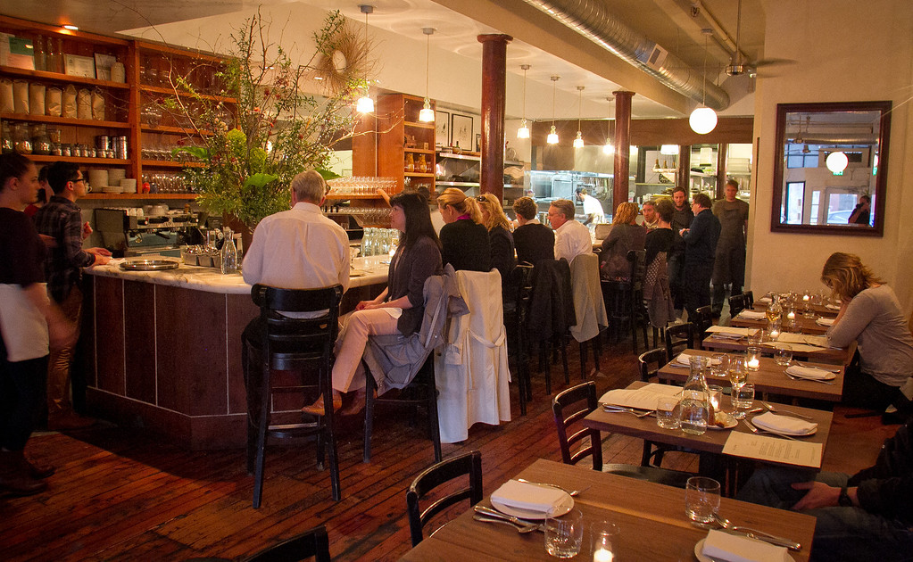 Diners enjoy dinner at Bar Tartine in San Francisco, Calif., on Thursday, March 8th, 2012.