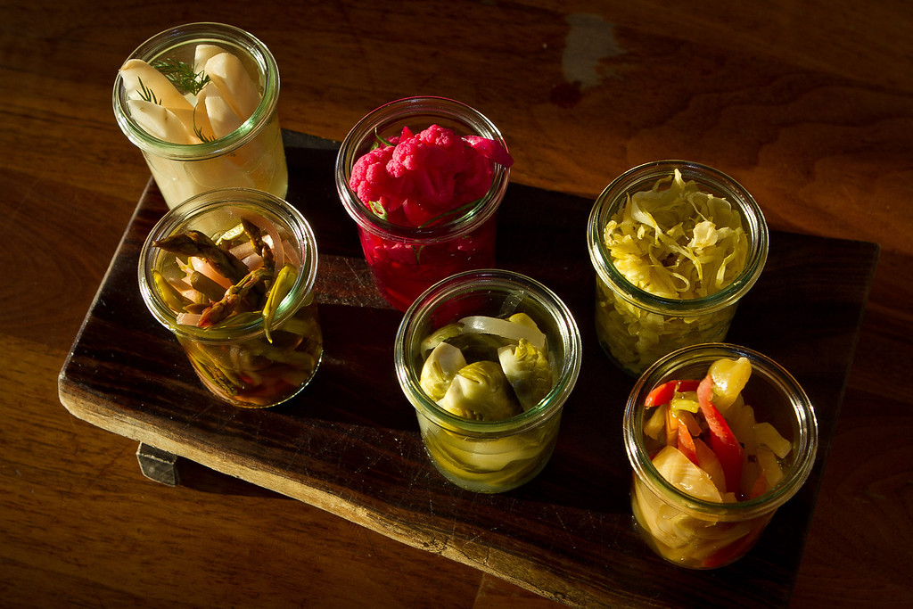 The Pickle Platter at Bar Tartine in San Francisco, Calif., is seen on Thursday, March 8th, 2012.