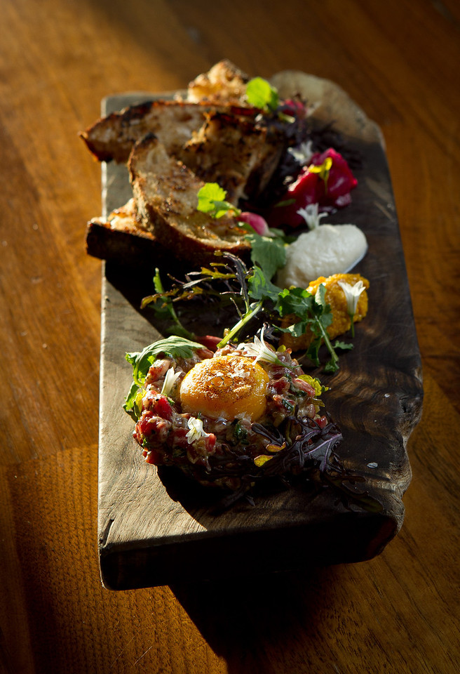 The Wagyu Steak Tartare at Bar Tartine in San Francisco, Calif., is seen on Thursday, March 8th, 2012.