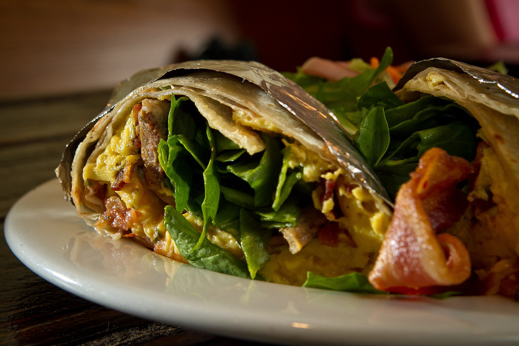The Breakfast Burrito at the Beachside Coffee Bar in San Francisco, Calif. is seen on March 29th, 2012.