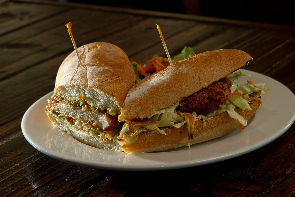 The Fried Chicken Sandwich at the Beachside Coffee Bar in San Francisco, Calif. is seen on March 29th, 2012.