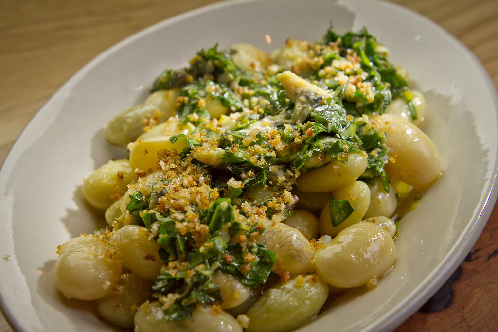 The braised Butter Beans at Beerworks in Mill Valley, Calif., is seen on Friday, October 12th, 2012.