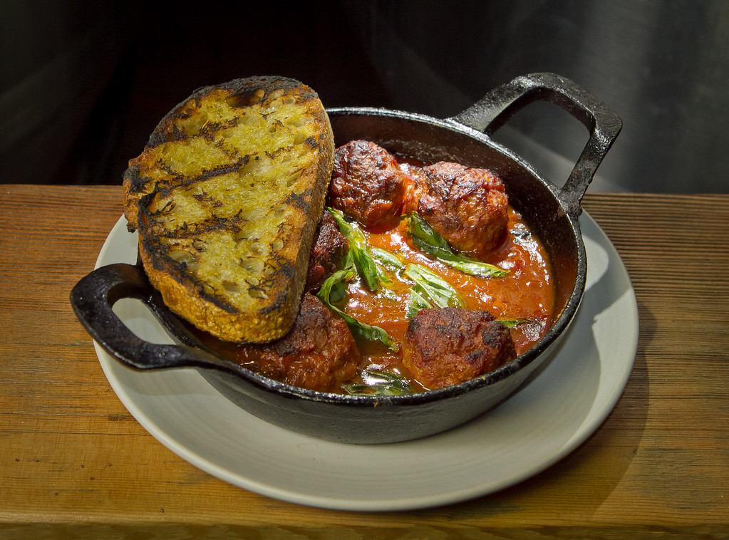 The Pork Meatballs at Beerworks in Mill Valley, Calif., is seen on Friday, October 12th, 2012.