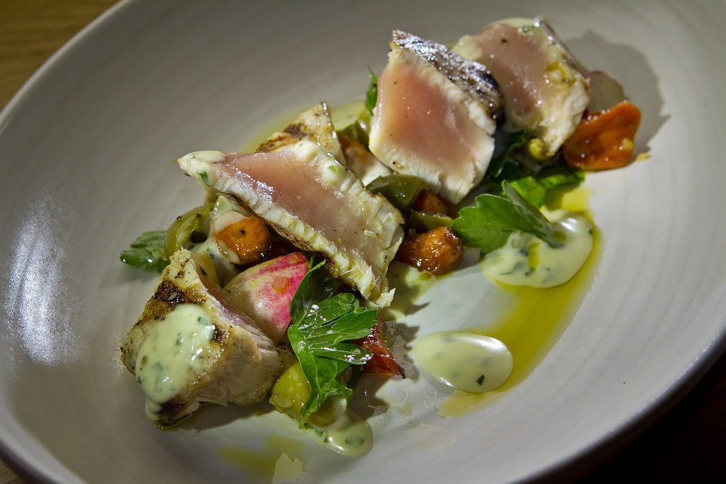 The grilled Albacore at Beerworks in Mill Valley, Calif., is seen on Friday, October 12th, 2012.