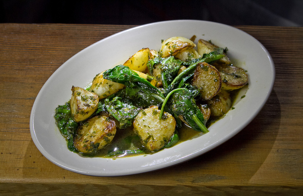 Sauteed Turnips and Tops at Beerworks in Mill Valley, Calif., is seen on Friday, October 12th, 2012.