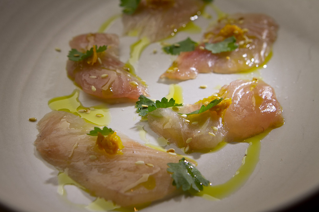 The Kampachi Crudo at Beerworks in Mill Valley, Calif., is seen on Friday, October 12th, 2012.