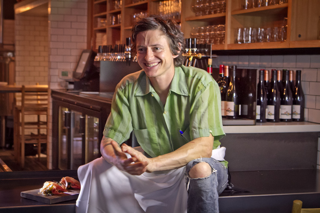 Chef David Wilcox at Beerworks in Mill Valley, Calif., is seen on Friday, October 12th, 2012.