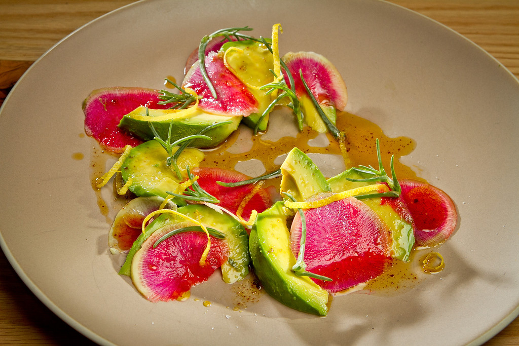 The Avocado and Watermelon Radish Salad at Beerworks in Mill Valley, Calif., on Friday, October 12th, 2012.