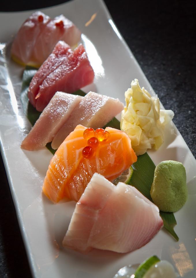 """The """"Sashimi Tasting"""" at Blue Gingko restaurant in Danville, Calif., is seen on Thursday, November 1st, 2012"""