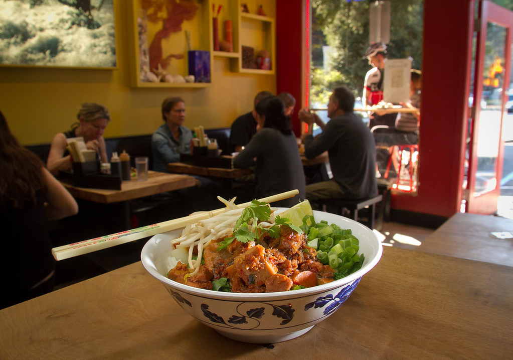 The Rooted Red Curry at Boo Koo Asian Street Food in Mill Valley, Calif.,  is seen on Friday, December 2nd,  2011.