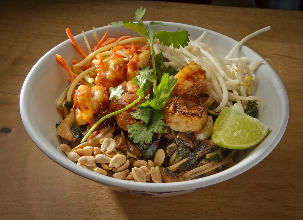 The Norcal Pad Thai at Boo Koo Asian Street Food in Mill Valley, Calif.,  is seen on Friday, December 2nd,  2011.