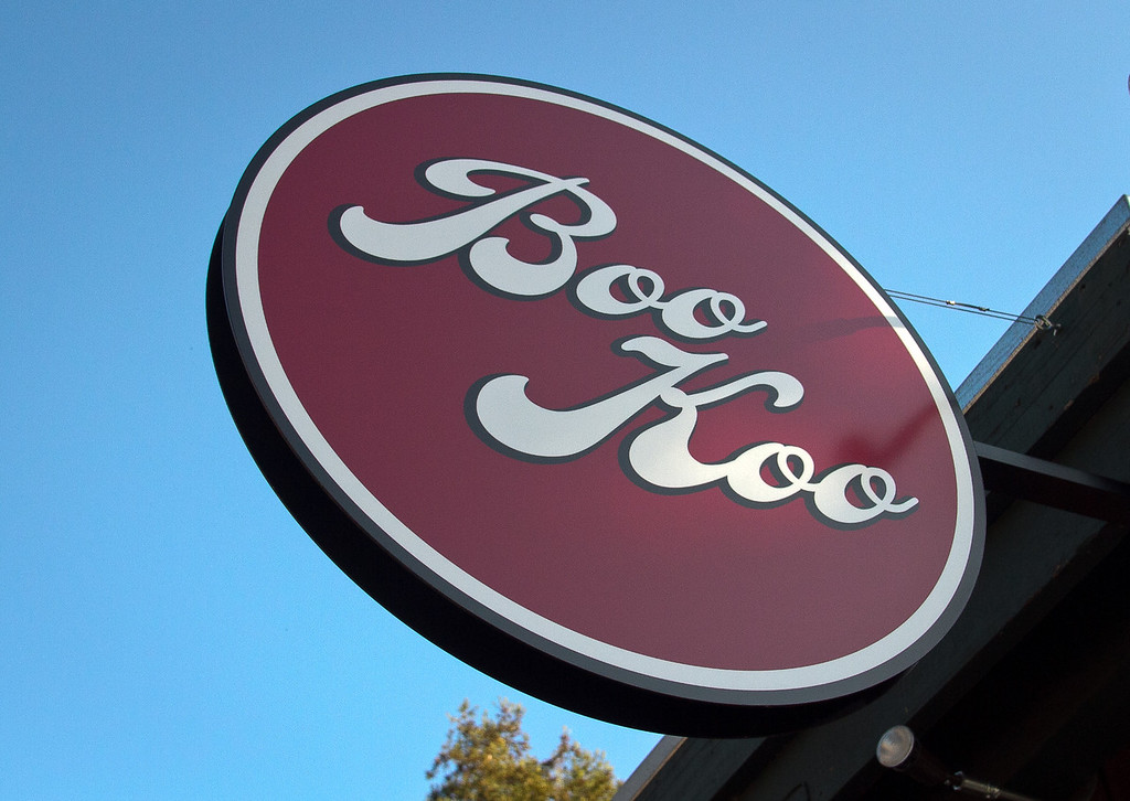 The sign at Boo Koo Asian Street Food in Mill Valley, Calif.,  is seen on Friday, December 2nd,  2011.