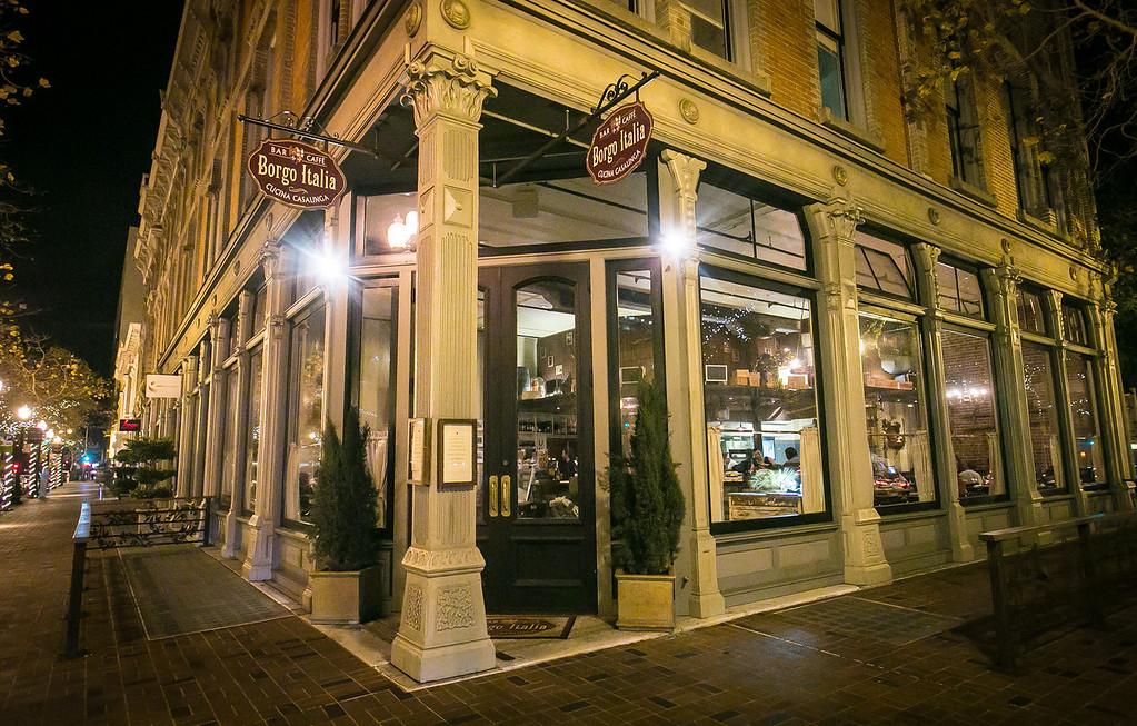 The exterior of Borgo Italia in Oakland, Calif., is seen on Wednesday, November 21st, 2012.