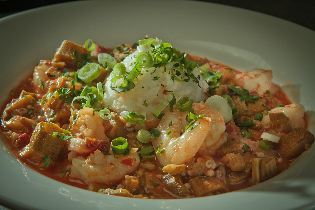 The smothered Okra and Gulf Shrimp Gumbo at the Boxing Room restaurant in San Francisco, Calif., is seen on July 27th, 2011.