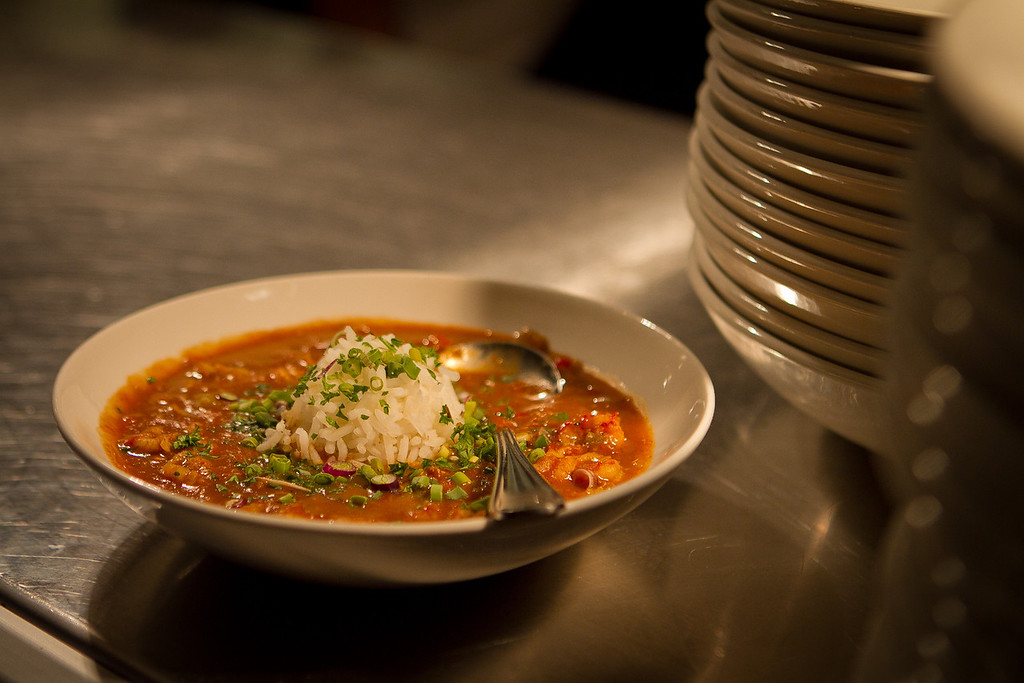 The Crawfish Etouffee at the Boxing Room Restaurant in San Francisco, Calif.,  is seen on Wednesday, December 21st,  2011.