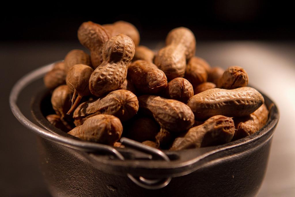 The Boiled Peanuts at the Boxing Room Restaurant in San Francisco, Calif.,  is seen on Wednesday, December 21st,  2011.