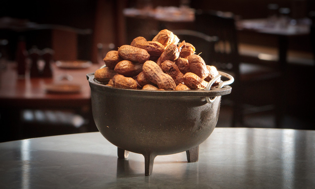The Boiled Peanuts at the Boxing Room restaurant in San Francisco, Calif., is seen on July 27th, 2011.