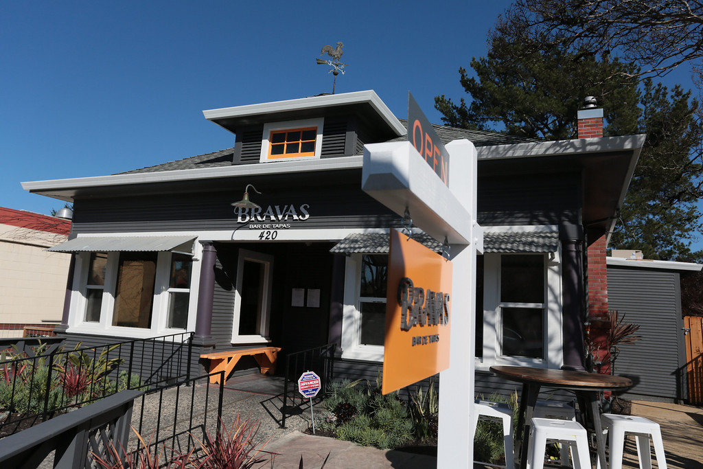 The exterior of Bravas Bar de Tapas in Healdsburg, Calif. on Sunday, February 10th, 2013