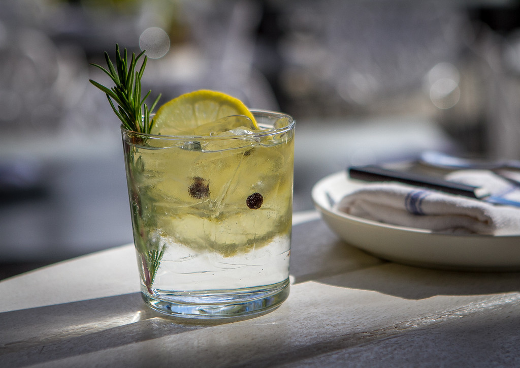 "The ""Chubasco"" Gin and Tonic at Bravas Bar de Tapas in Healdsburg, Calif. is seen on Thursday, February 7th, 2013"