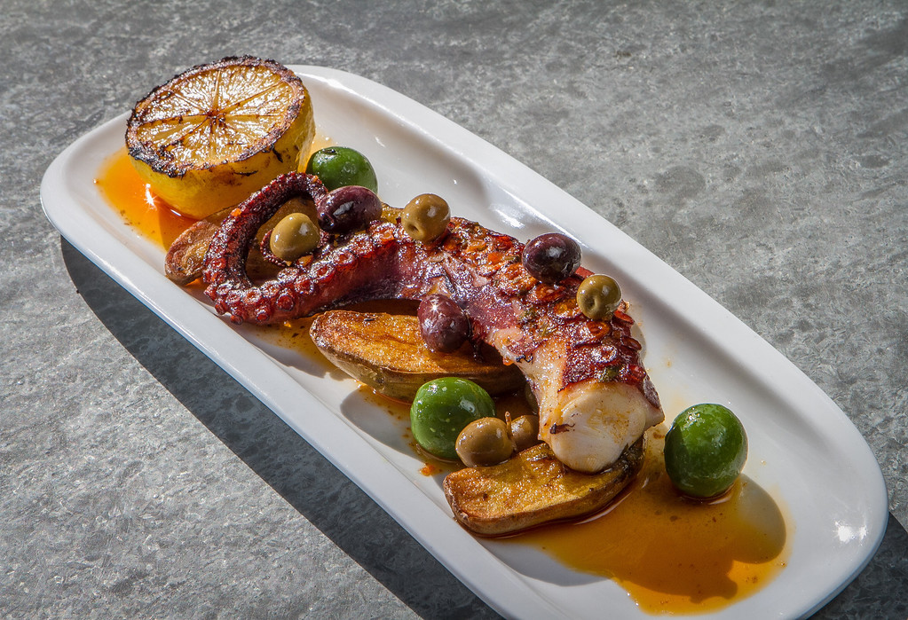 The Octopus at Bravas Bar de Tapas in Healdsburg, Calif. is seen on Thursday, February 7th, 2013