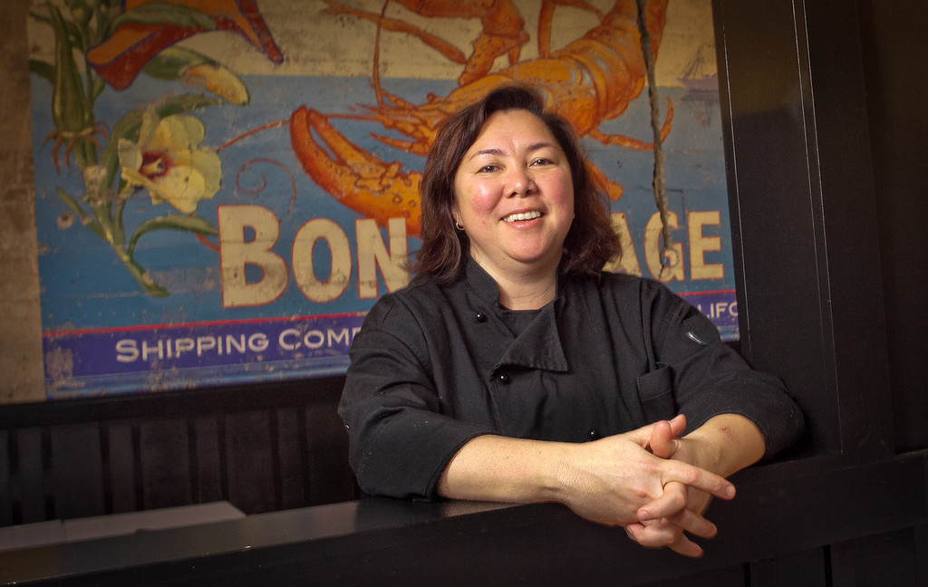 Chef and owner Brenda Buenviaje in Brenda's French Soul Food Restaurant in San Francisco, Calif., on Friday, January 20th, 2012.