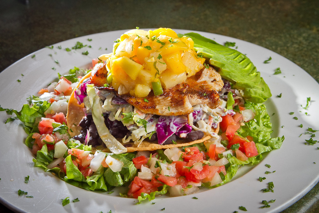The Anchiote Mahi-Mahi Tostada at the Broken Drum Brewery in San Rafael, Calif., is seen on Wednesday, November 7th, 2012.
