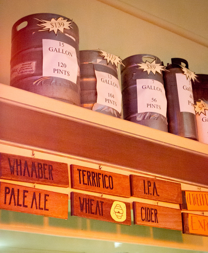 The choice of beers at the Broken Drum Brewery in San Rafael, Calif., is seen on Wednesday, November 7th, 2012.