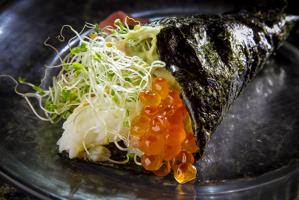 The Crab Temaki roll at Roxy's Cafe in San Francisco, Calif., is seen on Saturday, March 2nd, 2013.