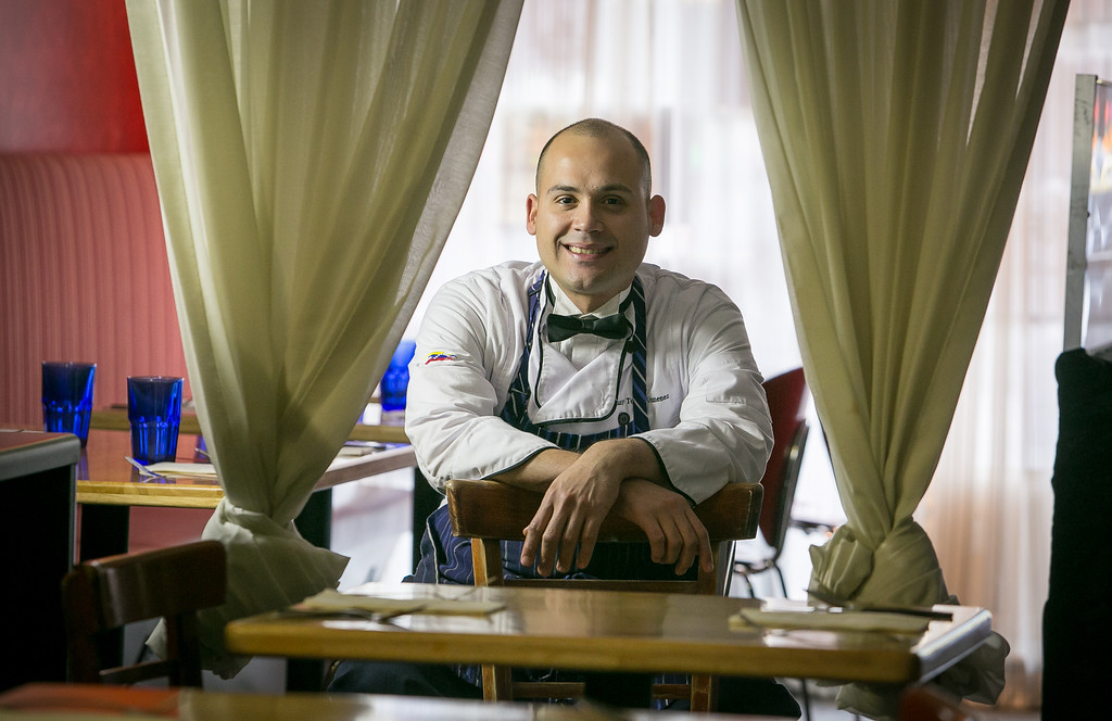 Chef Manny Torres Gimenez at Roxy's Cafe in San Francisco, Calif., is seen on Saturday, March 2nd, 2013.