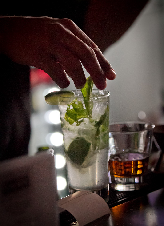 A Mojito being made at Cana Restaurant in Oakland, Calif., on Thursday, May 17th, 2012.