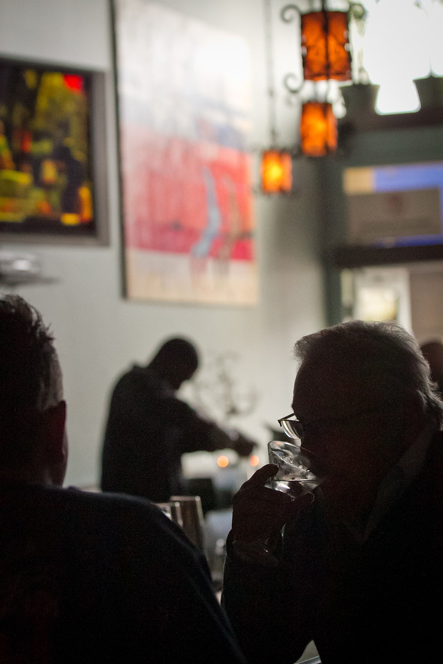 People enjoy happy hour at Cana Restaurant in Oakland, Calif.,  on Thursday, May 17th, 2012.