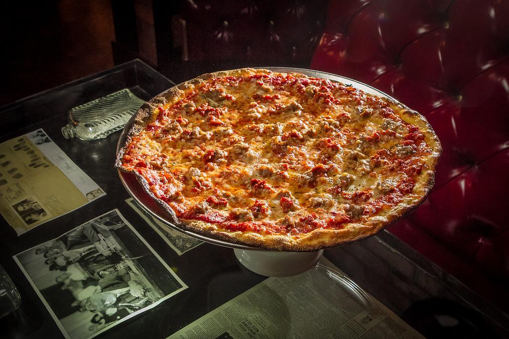 "The cracker thin ""Sam Giancana"" pizza at Capo's restaurant in San Francisco, Calif., is seen on Sunday, January 6th, 2013."