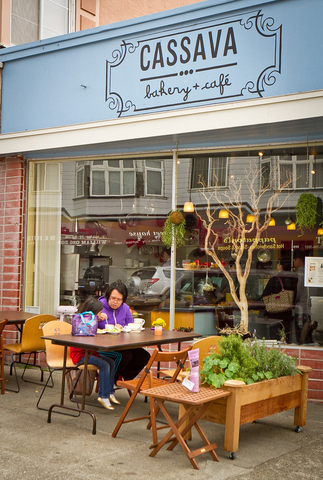 The exterior of Cassava Bakery & Cafe in San Francisco, Calif., is seen on Saturday, August 18th, 2012.