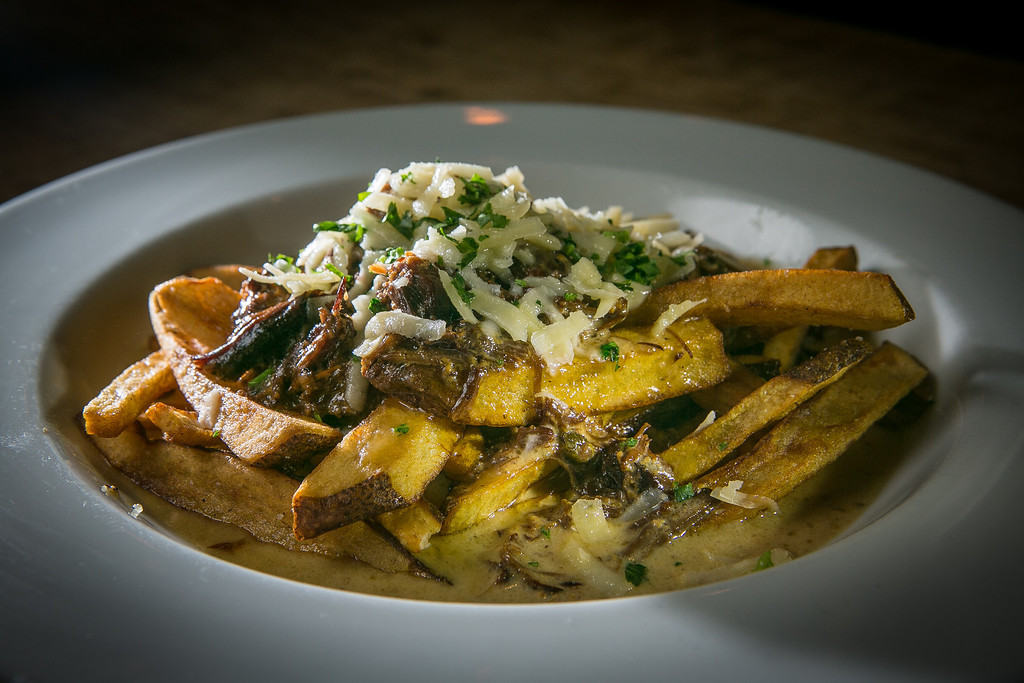 The Oxtail Poutine at the Chop Bar in Oakland, Calif., is seen on Thursday, February 7th, 2013.