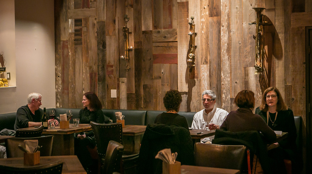 Happy Hour at Chop Bar in Oakland, Calif., is seen on Thursday, February 7th, 2013.