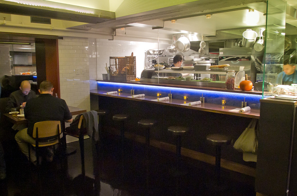 The kitchen at Claudine Restaurant in San Francisco, Calif., is seen on Monday, March 5th, 2012.