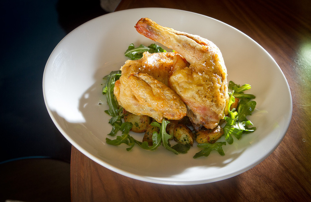 The Half Roasted Chicken at Claudine Restaurant in San Francisco, Calif., is seen on Monday, March 5th, 2012.