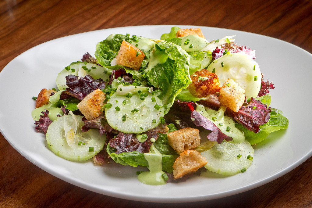 The Baby Greens Salad at Claudine Restaurant in San Francisco, Calif., is seen on Monday, March 5th, 2012.