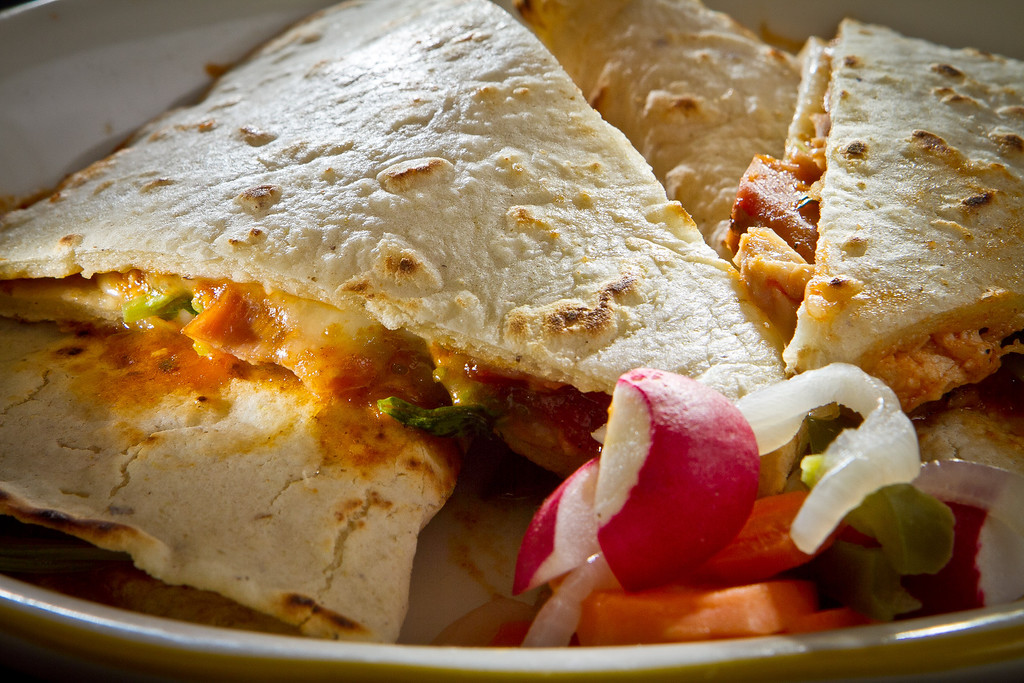 The Rabbit Tiaga Quesdillas at Comal Restaurant  in Berkeley, Calif., are seen on Tuesday, July 3rd, 2012.