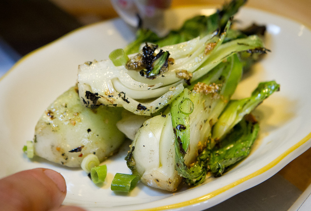 Grilled Bok Choy at Comal Restaurant  in Berkeley, Calif., is seen on Tuesday, July 3rd, 2012.