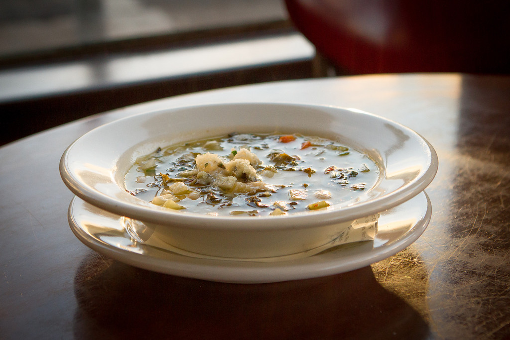 The Butter Bean and Kale soup being served at Company restaurant in San Francisco, Calif., is seen on Friday, December 7th, 2012.