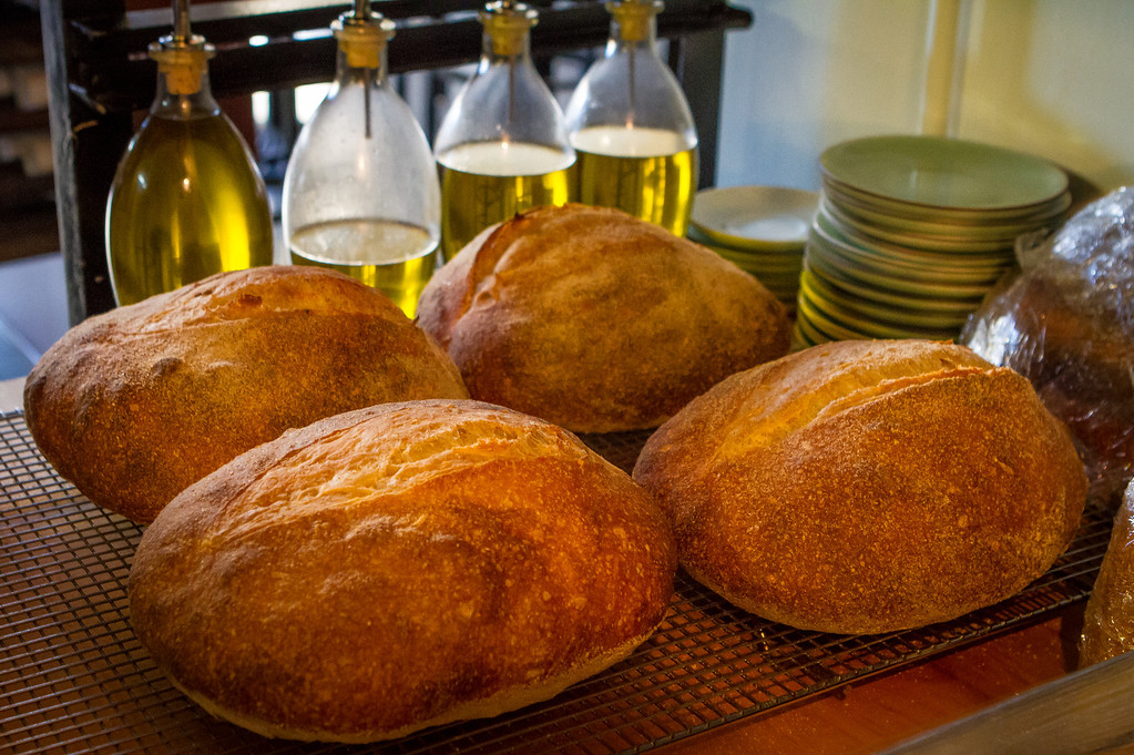 Home made bread with Olive Oil at Company restaurant in San Francisco, Calif., is seen on Friday, December 7th, 2012.