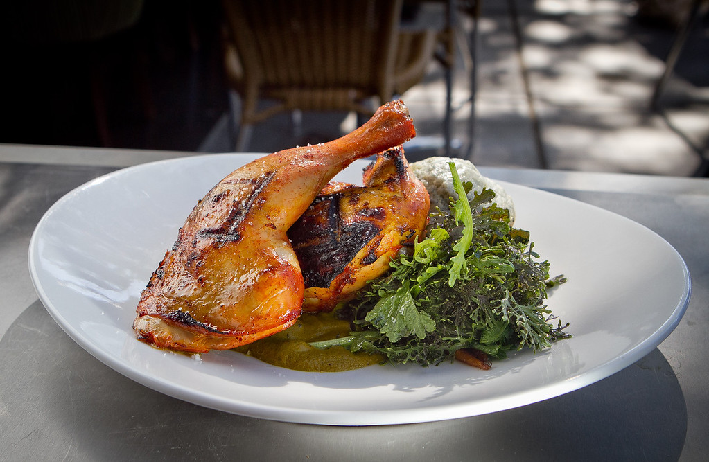 The Smoked Half Chicken at Corners Tavern in Walnut Creek, Calif., is seen on Saturday, May 19th, 2012.