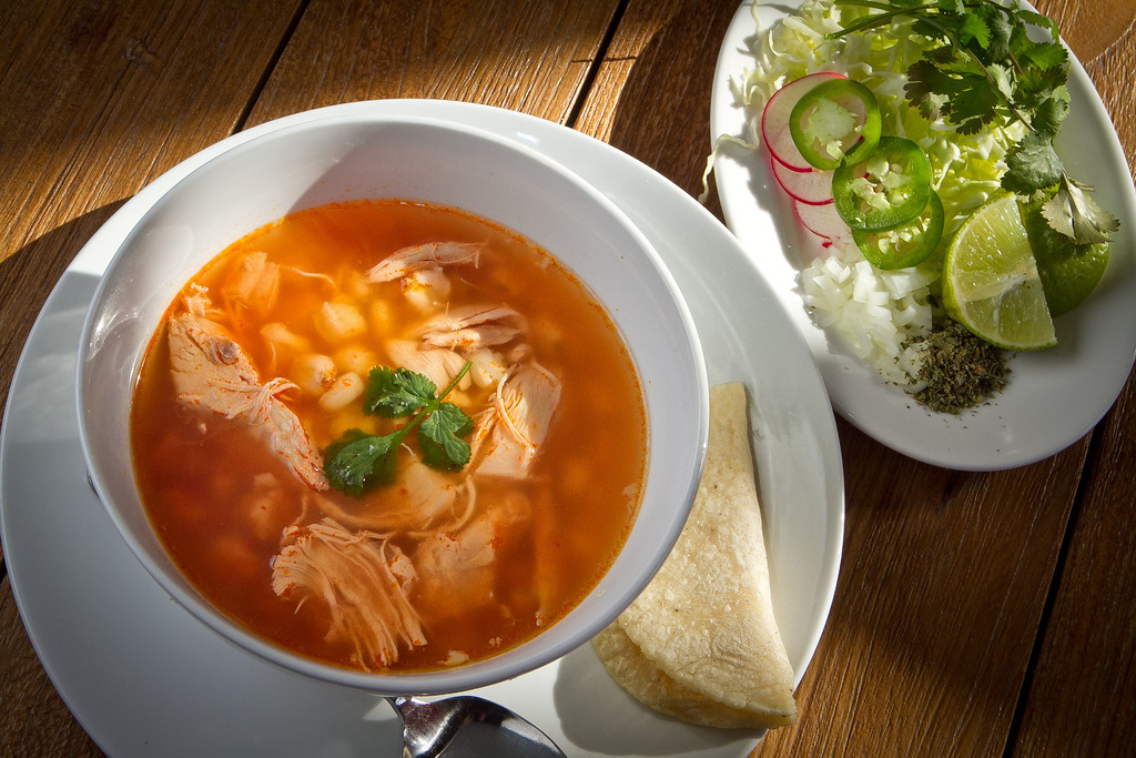 The Pozole soup at Cosecha Restaurant in Oakland, Calif., is seen on Friday, January 6th,  2012.