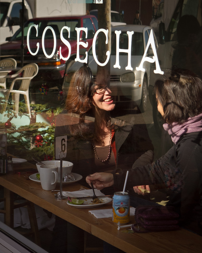 Diners enjoy lunch at Cosecha Restaurant in Oakland, Calif., on Friday, January 6th,  2012.