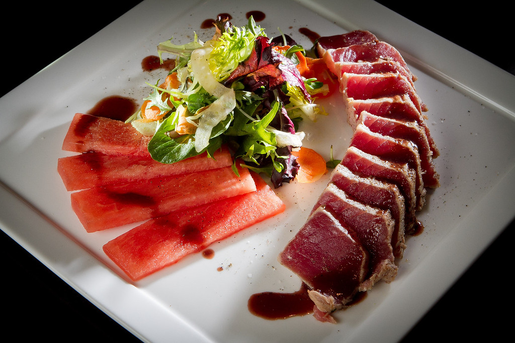 "The ""Thon"" Ahi Tuna entree at Cypress restaurant in Walnut Creek, Calif.,  is seen on Friday, December 16th,  2011."